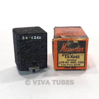 NOS NIB Vintage Meissner 14-4242 Oscillator Coil Shielded 175 kc