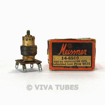 NOS NIB Vintage Meissner 14-6590 Oscillator Coil Unshielded 262kc