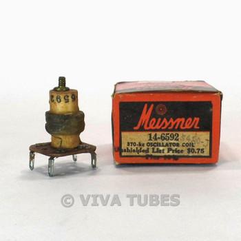 NOS NIB Vintage Meissner 14-6592 Oscillator Coil Unshielded 370kc