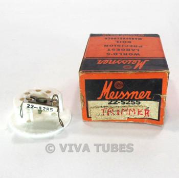NOS NIB Meissner 22-5255 Midget Ceramic-Base Trimmer Mica-Dielectric 3-30 mmf