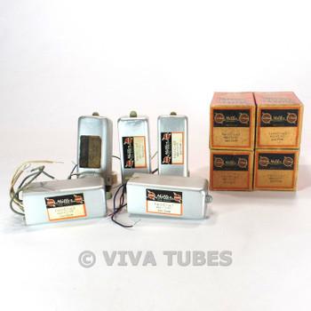 Vintage Lot of 5 Miller F-612-C1/F-612-C2 Var Select IF Transformers Coils