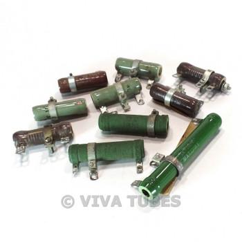 Vintage Lot 10x Adjustable Variable Rheostat Wire Wound Resistors 10-25 Watt