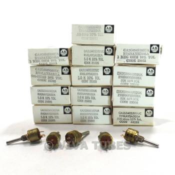 Vintage Lot of 18 Allen-Bradley Type G Mini Potentiometers Various Ohms
