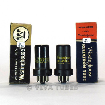 True NOS NIB Matched Pair Westinghouse USA 6SC7 Metal Vacuum Tubes
