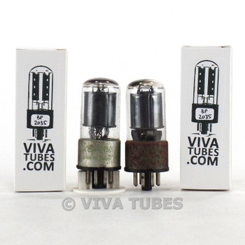Tests NOS Matched Pair Sylvania USA 6SH7GT Black Plate [] Get Rust Vacuum Tubes