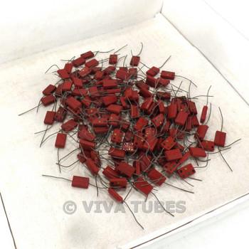 Vintage Lot of Approx 115 El-Menco Small Mica Capacitors 51 Uf