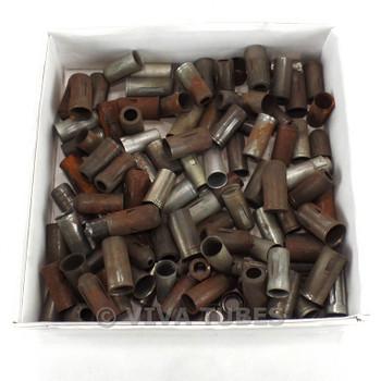 Lot of 112 Rusty Mini Metal Radio Vacuum Radio Tube Shields 9-Pin, 12AX7 Size