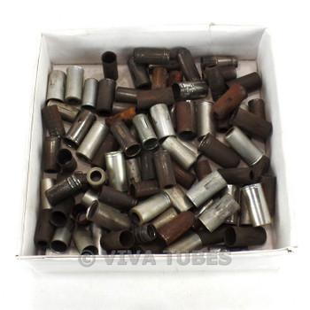 89 Rusty Mini Metal Vacuum Radio Vacuum Radio Tube Shields 9-Pin, 12AX7 Size