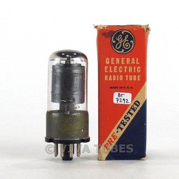 True NOS NIB GE USA 6SJ7GT Black Ribbed Plate Top [] Get Rust Vacuum Tube 100+%