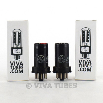 Date Matched Pair GE USA 6SJ7 Metal Rattle Vacuum Tubes 97 & 95%