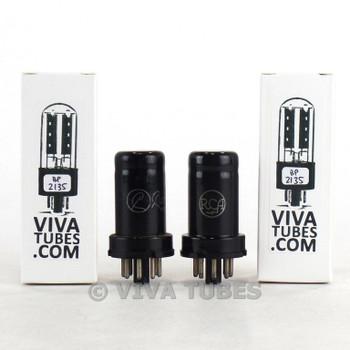 Matched Pair RCA USA 6SJ7 Metal Vacuum Tubes 86 & 84%