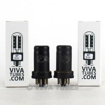 Date Matched Pair RCA USA 6SJ7 Metal Rust Vacuum Tubes 95 & 90%