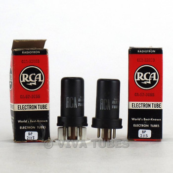 True NOS NIB Date Matched Pair RCA USA 6SJ7Y Metal Rust Vacuum Tubes 100+%