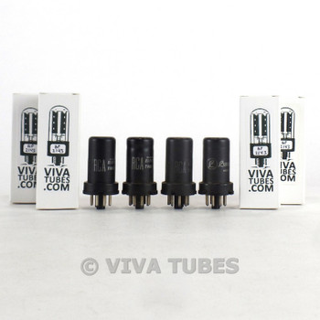 Matched Quad (4) RCA USA 6SJ7 Metal Rust Vacuum Tubes 79 & 72 & 72 & 72%