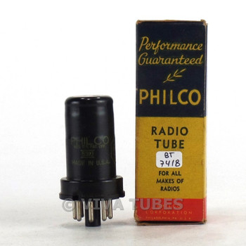 True NOS NIB Philco USA 6SK7 Metal Rattle Vacuum Tube 100+%