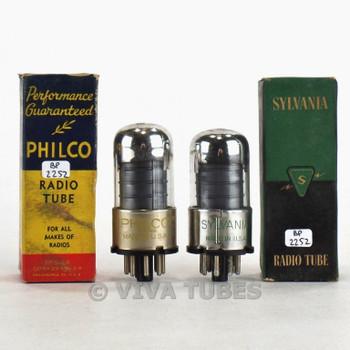 True NOS NIB Matched Pair Sylvania USA 6SK7GT Black Vacuum Tubes 100%