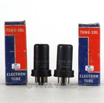 True NOS NIB Matched Pair Vintage Tung-Sol USA 6SK7 Metal Vacuum Tubes 100+%