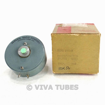 NOS NIB General Radio Co. Type 975-N Precision Potentiometer 10000 ohm 10K