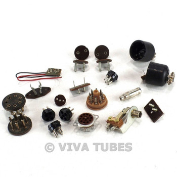 Vintage Lot of 22 Vintage Organ/Audio/Tube Socket Connector Ends