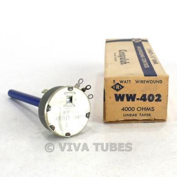 NOS NIB Centralab Model WW-402 Wirewound Linear Taper Potentiometer 5 Watt 40K