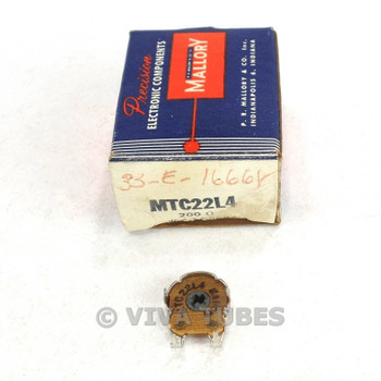 NOS NIB Vintage Mallory Model MTC22L4  Shaftless Potentiometer 200 ohm