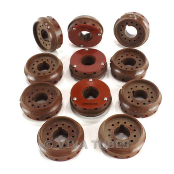 Vintage Lot of 11 Cinch Brown 12-Pin CRT/Picture Tube Socket Ends
