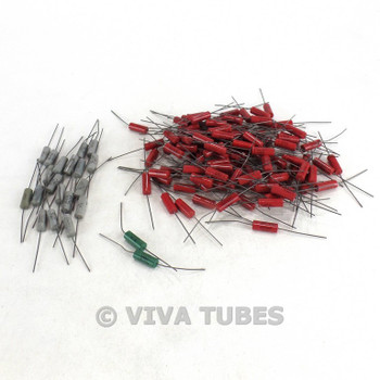 Vintage Lot of 130 IRC RN70A/RN70C/RN70D Wire Wound Ceramic Resistors