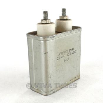 Vintage Aerovox P09J Oil-Filled Capacitor 0.25 mfd 3000 3 KV VDC