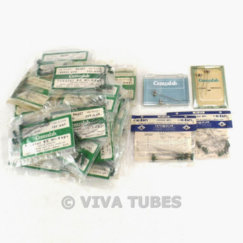 NOS NIB Vintage Lot of 167 Centralab BC Hi-Kaps Tubular Ceramic Capacitors
