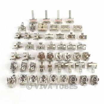 Vintage Lot of 50 Small Ceramic Trimpots Trimmer Trim Potentiometers