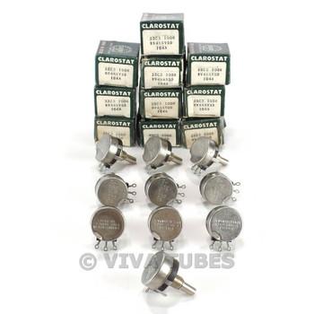 NOS NIB Vintage Lot of 10 Clarostat 53C3 S-Taper Pots Potentiometers 100K ohm