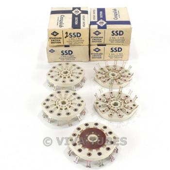 NOS NIB Lot of 5 Centralab SSD Standard Rotary Switch Section Wafers 3 POL 3 POS