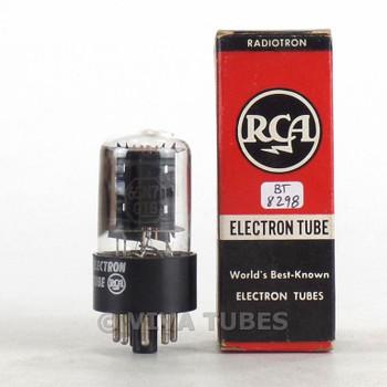 True NOS NIB RCA USA 6SN7GTB Flat Black Plate Side [] Get Vacuum Tube 100+%