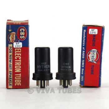 True NOS NIB Matched Pair CBS Hytron USA 6SQ7 Metal Rattle Tubes