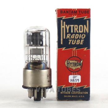 Hytron USA 6SQ7GT Dark Grey Off-Center Round Plate BTM [] Get 3 Mica Tube 90%