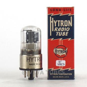 Hytron USA 6SQ7GT Dark Grey Off-Center Round Plate 3 Mica Vacuum Tube 90%