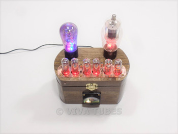 Ultra Cool USA Made Nixie Vacuum Tube Clock Steampunk 6 Digit Multi Color LED