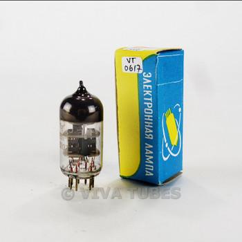True NOS NIB Reflector Russia 6N23P-EV [6922, 6DJ8] Grey Plate O Get Vacuum Tube