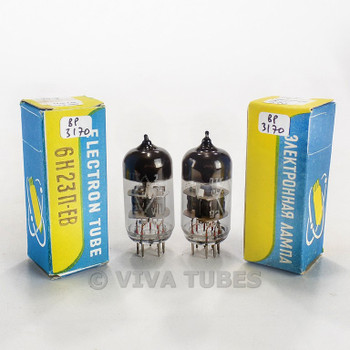 True NOS NIB Date Matched Pair Reflector Russia 6N23P-EV 6922 6DJ8 Tubes