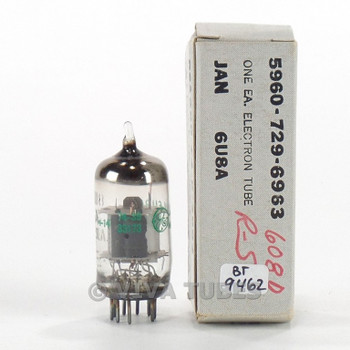 True NOS NIB GE USA JAN-6U8A [6GH8] Grey Plate Thin Pole O Get Vacuum Tube 100+%