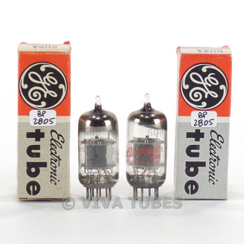 True NOS NIB Matched Pair GE USA 6U8A [6GH8] Grey Plate O Get Vacuum Tubes