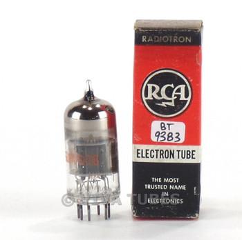 True NOS NIB RCA USA 6U8A/6KD8 Grey/Black Plate O Get Vacuum Tube 100+%