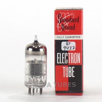 Tests NOS Standard Brand USA 6U8A [6GH8] Black Plate O Get Vacuum Tube 100+%