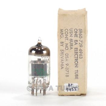 True NOS NIB Sylvania USA USN-6U8A [6GH8] Grey Plate O Get Vacuum Tube 100+%