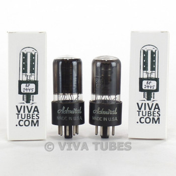Tests NOS Date Matched Pair GE USA 6V6GT Black Plate [] Get Smoked Vacuum Tubes