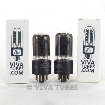 Tests NOS Matched Pair GE 6V6GT Black Plate [] Get Smoked Vacuum Tubes 100+%