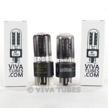 Tests NOS Matched Pair GE 6V6GT Black Plate [ ] Get Smoked Vacuum Tubes 100+%