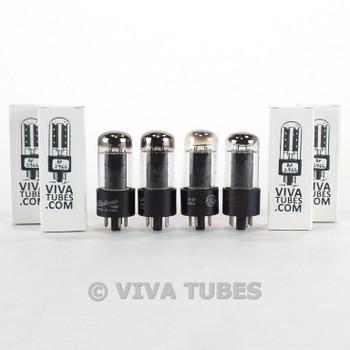 Tests NOS Matched Quad (4) GE USA 6V6GT Black Plate [] Get Vacuum Tubes 100+%
