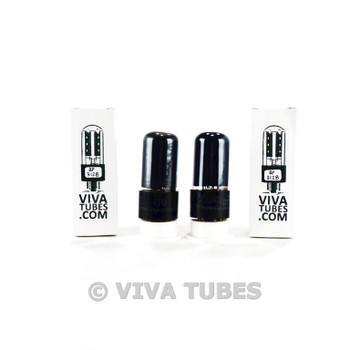 Tests NOS Matched Pair National Union NU 6V6GT Black P Smoked Cracked Base Tubes