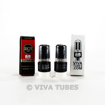 Tests NOS Date Matched Pair RCA 6V6GT Black Plate 2 [ ] Get Tubes